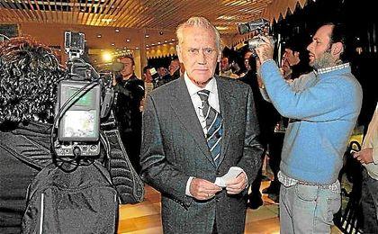 Hugo Galera, cabeza visible de Béticos por el Villamarín, en una junta de accionistas.
