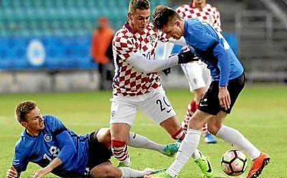 Pjaca se lesionó en un partido con la selección croata.