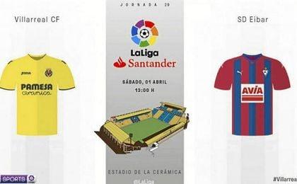 Villarreal 1-2 Eibar, remontada armera con polémica