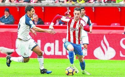Burgui es el jugador más en forma del Sporting.