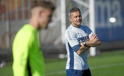 El técnico valenciano del Villarreal.