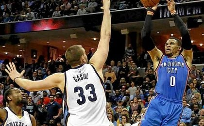 Marc Gasol no evita la derrota de los Grizzlies.