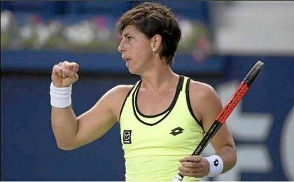 Carla Suárez recupera el tono y se clasifica para cuartos de final en Monterrey