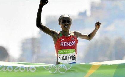 Jemima Sumgong, campeona olímpica en Río, da positivo por dopaje