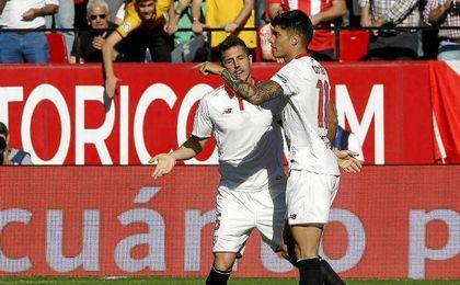 Correa anotó el tercero del Sevilla.