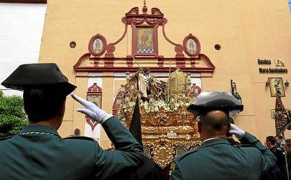 Imagen del paso del Sagrado Decreto de la Santísima Trinidad.