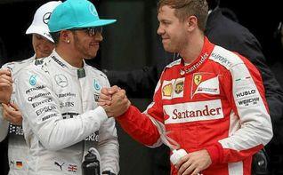 Hamilton y Vettel se retan en el desierto