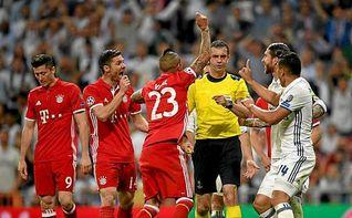 El acta arbitral no refleja ningún incidente con jugadores del Bayern