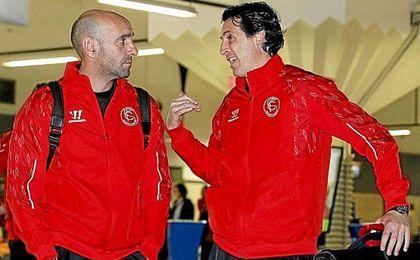 Emery y Monchi formaron un poderoso tándem en el Sevilla.