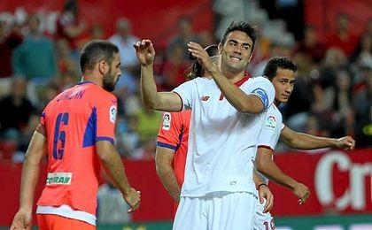 Iborra tuvo ocasiones, pero Ochoa las paró.