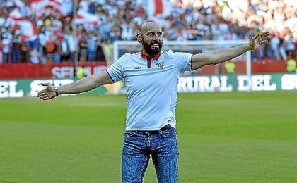 Monchi, el día de su despedida de la afición del Sevilla.