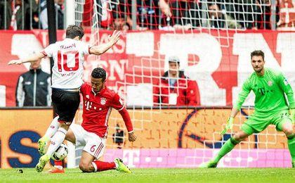 Bojan marcó su primer gol con el Mainz al Bayern.