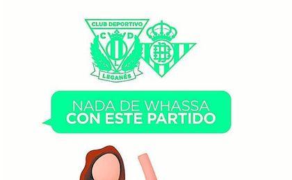 En Butarque no quieren 'whassa' con el Betis