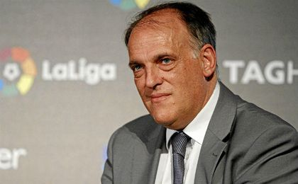 Tebas nunca ha escondido su sentimiento por el Real Madrid.