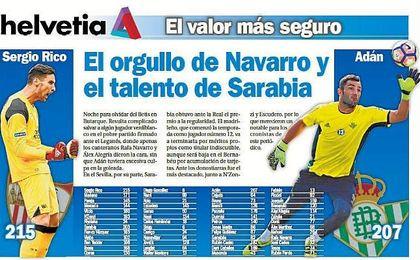 El orgullo de Navarro y el talento de Sarabia