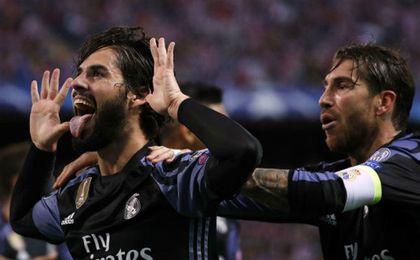 Isco hizo el gol del Madrid en el Calderón.