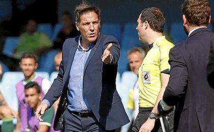 Berizzo ya conoce su sanción, tras ser expulsado ante el Málaga.