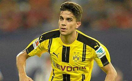 Marc Bartra durante un partido del Dortmund.