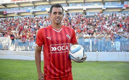 Diego Rodríguez, en su presentación con Independiente de Avellaneda.