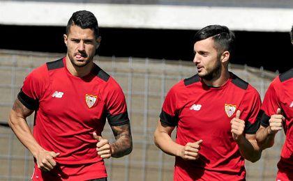 Vitolo y Sarabia son muy amigos.