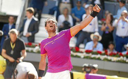 Nadal gana en Madrid por quinta vez e iguala a Djokovic con 30 Masters 1.000