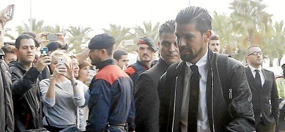 Nolito, en la visita del City a Barcelona.