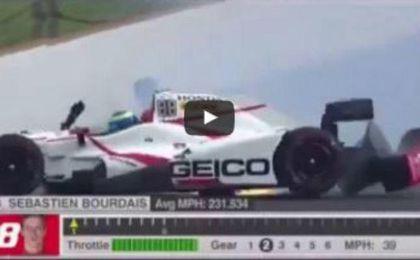 El tremendo accidente de Bourdais en Indianápolis