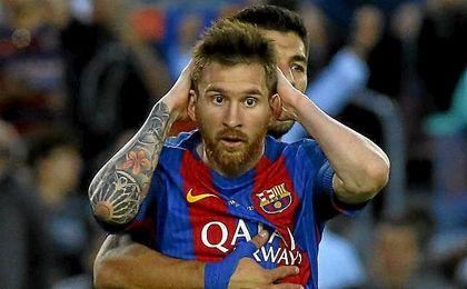 Messi marcó un doblete ante el Eibar.