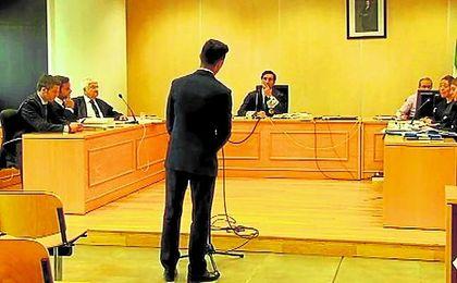 El canario, durante su declaración ante el juez del caso.