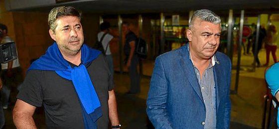 El presidente de la AFA, Claudio Tapia, y el vicepresidente, Daniel Angelici.