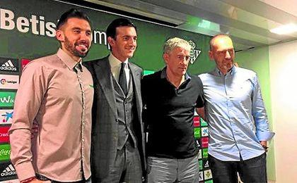 Quique Setién trabajará junto a Eder Sarabia, Fran Soto y Marcos Álvarez, que sigue en el club.