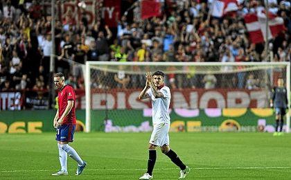 Jovetic pudo despedirse ante Osasuna definitivamente.