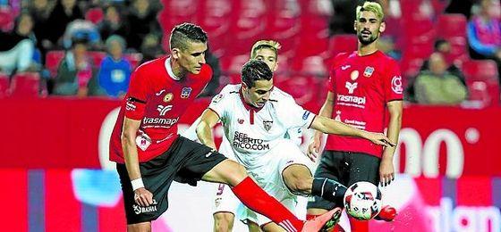 Ben Yedder, ante el Formentera en Copa.