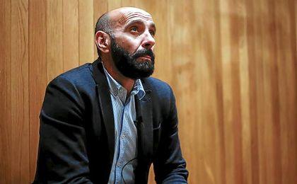 Monchi, durante su entrevista a ESTADIO Deportivo antes de salir del Sevilla.