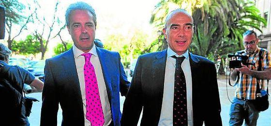 El empresario navarro Luis Oliver, a su llegada a los juzgados el pasado lunes.
