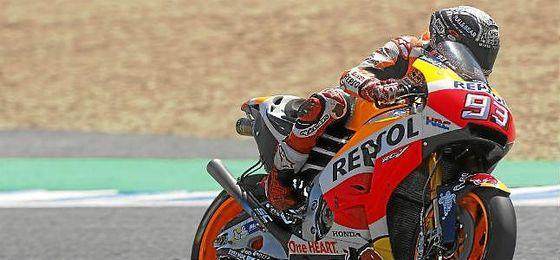 Márquez, el más rápido en los últimos libres.