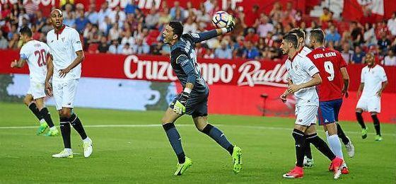 David Soria, en el partido ante Osasuna.