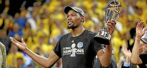 Kevin Durant, nombrado MVP de las Finales de la NBA.