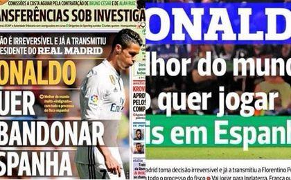 La portada del diario portugués A Bola hoy viernes 16 de junio.