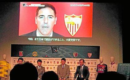 Berizzo envió un mensaje durante la presentación de la Meiji Yasuda.