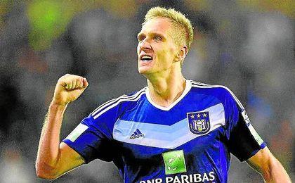 Lukasz Teodorczyk,30 goles con el Anderlecht, se siente atraído por el Sevilla.