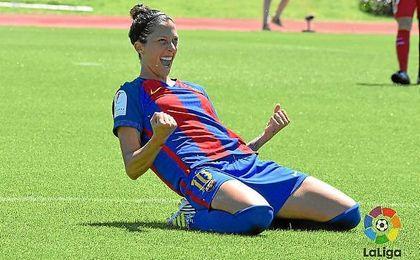 Jenni Hermoso hizo dos de los cuatro goles azulgranas.