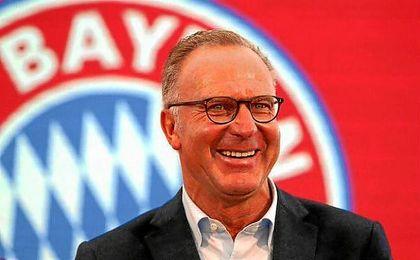 Rummenige, en un acto del Bayern, rechaza cualquier intento por Ronaldo.
