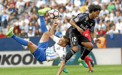 Imagen del Málaga-Real Madrid de la última jornada.