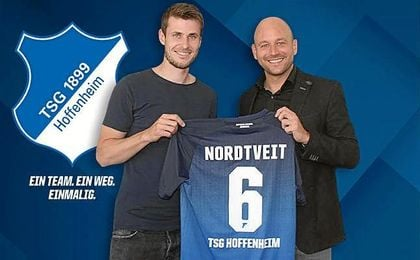 Nordveit, con la elástica del Hoffenheim.