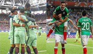 Cristiano impulsa a Portugal y México aguanta el tirón