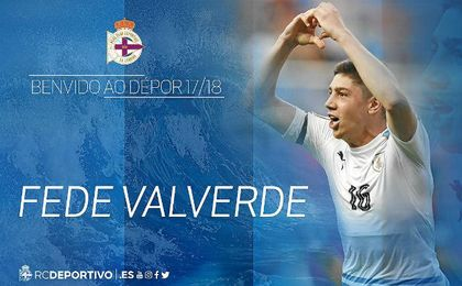 El Deportivo oficializa la cesión del uruguayo del Real Madrid Fede Valverde