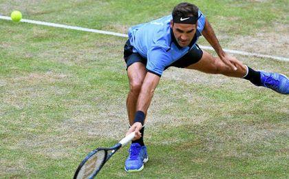 Federer, en su partido contra Mayer.