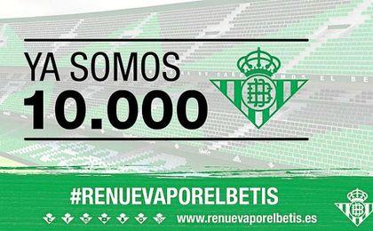 El Betis alcanza ya los 10.000 abonados