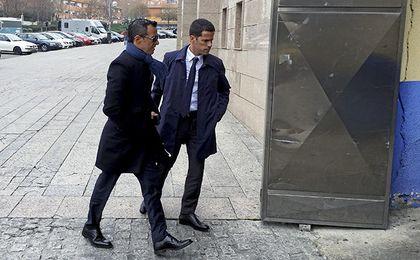 Jorge Mendes en los aledaños del Vicente Calderón